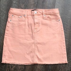 JCREW Coral Denim Skirt - Size 0 NWT